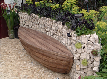 Gabion Wall Water and Plant Feature GARDEN structures