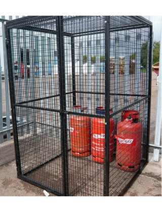 gas bottle cage walk in storage cage 4ft x4ft x 6ft high
