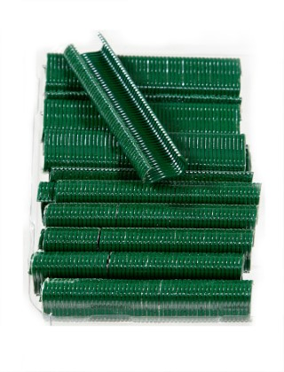 medium green fencing clips