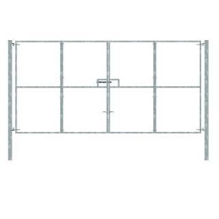 double galvanized gate 2.4x4.9m