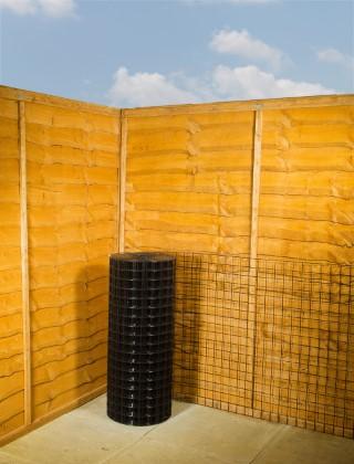 Garden fencing black pvc wire mesh g ft m