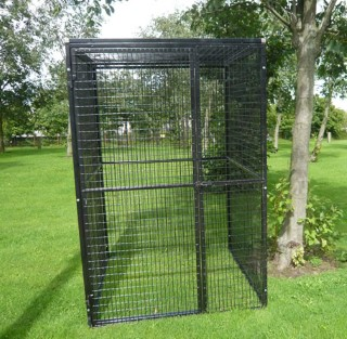 metal aviary cage 4ft x 4ft x 6ft high