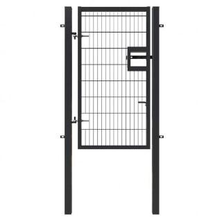 black 2m x 1m gate