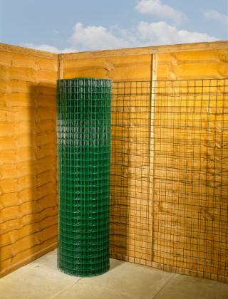 green pvc wire mesh 2 x 2 12G 5ft x 25m