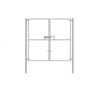double gate galvanized 2.4x2.46m