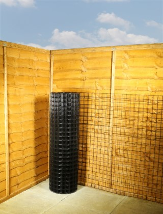 wire fence black pvc