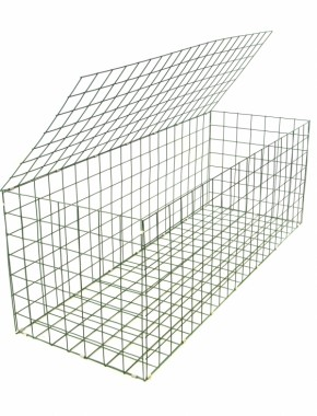 gabion basket Green Pvc 3mm 1.5m x 0.5m x 0.5m
