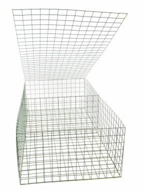 gabion basket Green Pvc 3mm 2m x 1m x 0.5m