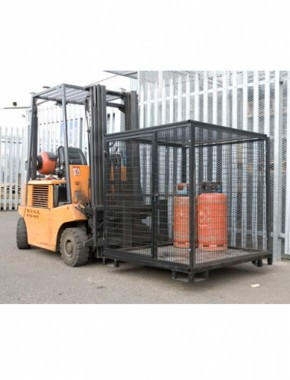 4ft cube gas bottle cage with forklift base