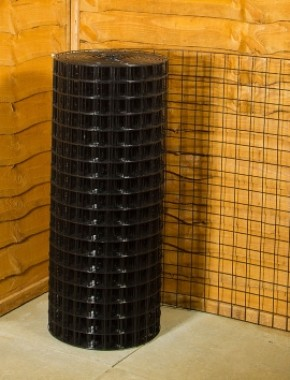Garden Fencing Black Pvc Wire Mesh 2 X 2 12g 3ft X 25m