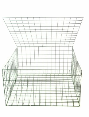 gabion basket Green Pvc 3mm 1m x 1m x 0.5m