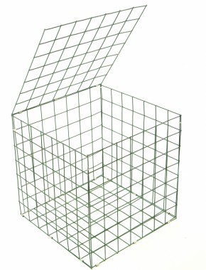 gabion basket Green Pvc 3mm 0.5m x 0.5m x 0.5m