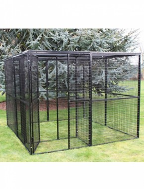 Metal cat run 8ft x 8ft x 6ft high with safe entrance