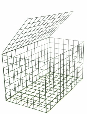 gabion basket Green Pvc 3mm 1m x 0.5m x 0.5m