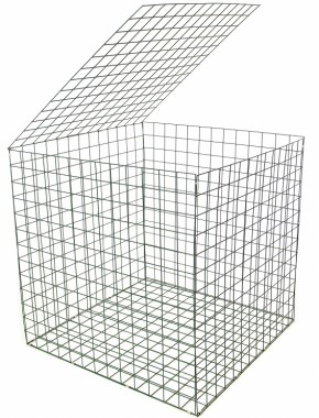 gabion basket Green Pvc 3mm 1m x 1m x 1m