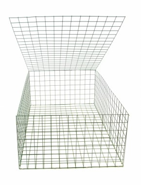 gabion basket Green Pvc 3mm 1.5m x 1m x 0.5m