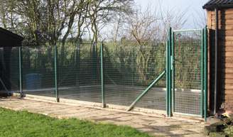 Metal Fencing system used at boarding kennels